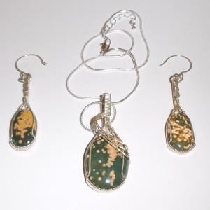 Stone Earrings-Pendant Sets